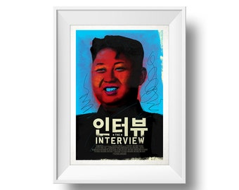 The Interview Warhol-style Alternative Movie Poster