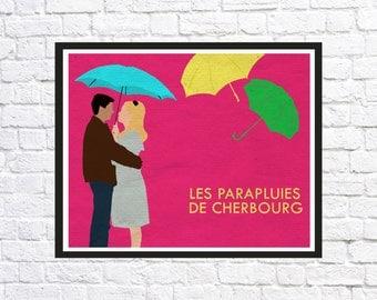 Les Parapluies de Cherbourg (The Umbrellas of Cherbourg) Movie Poster, Print