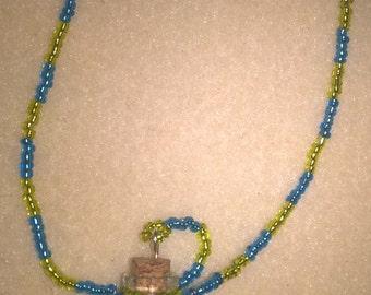 beaded bottle necklace