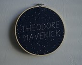 Constellation Hoop - Constellation Sign -  Constellation Nursery Decor - Personalized Embroidery Hoop - Star Nursery - Baby Shower Gifts