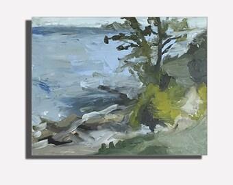 Lake Park Plein Air Landscape Oil Painting