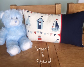 Nautical themed rectangular cushion