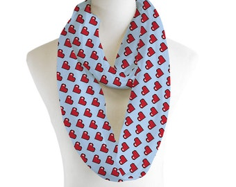 Pixelated Hearts Scarf