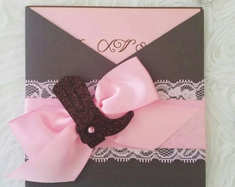 Cowboy theme invitation...sweetsixteen, XV años, weddings