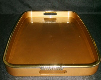 Georges BRIARD Tray Gold Black Ca. 60s