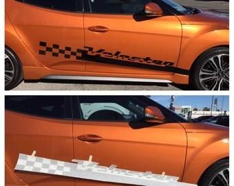 "Hyundai Veloster side Racing Stripes Vinyl Sticker Decal Logo Graphics 8"" X 69"""