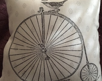 Small victorian bicycle pillow