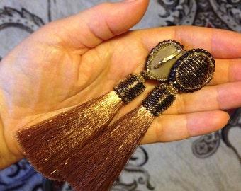 Brush-earrings handmade