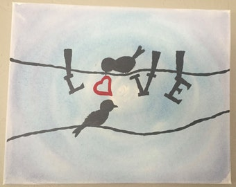 Love Birds - Painting