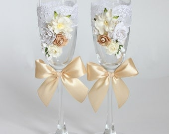 Wedding glasses, glasses for newlyweds