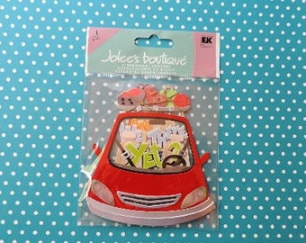 Car trip scrapbook stickers by Jolee's Boutique