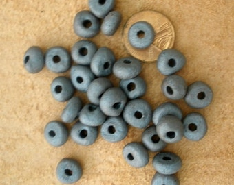 18 Greek Ceramic Beads/ Greek Spacer Beads/ Primitive Spacer Bead/ Handmade Spacer Beads 20 Beads BE103