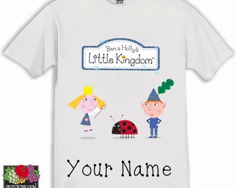 Ben and Holly Personalised Kids Tshirt Available in sizes age 1-13