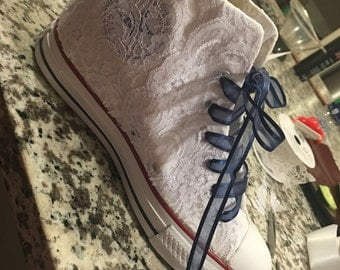 Converse Wedge Wedding Shoes