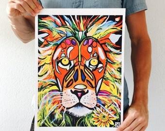 Lion Print - MANE MAN 30cmx40cm
