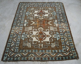4'5''x6' Anatolian Rug, Turkish Traditional Carpet DISCOUNTED %15