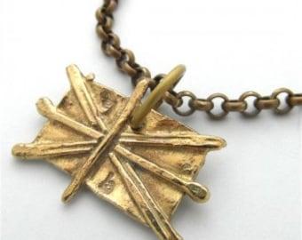 Together We Unite Brass Bracelet
