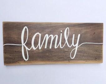 Family banner sign