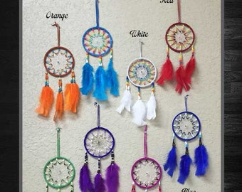 Large Dream Catcher Feather Ornament