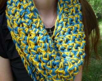 Blue and Yellow Cowl - Purple and Yellow Cowl - Thick Cowl - Multicolor Cowl - Warriors - Lakers