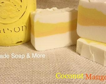 Homemade soap. Coconut Mango