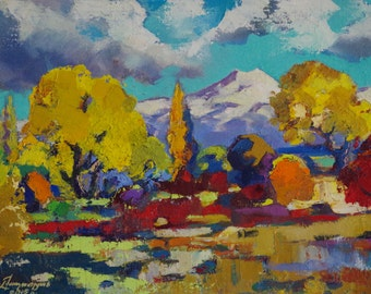 Autumn Palette, Landscape oil Painting, Handmade art, Painting on Canvas, Impressionism,  Oil on Canvas, Signed