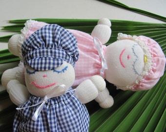 Charming Girl and Boy Sock Doll Set