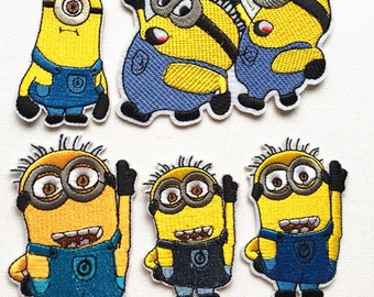 5 Kinds Of Minions Patches Iron /Sew On Patches Appliques  Cute Patches Elegant Patches High Quality Patches