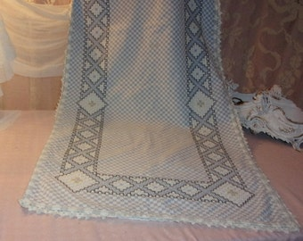 A big old curtain fabric checkered double knit