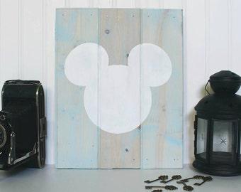 Disney Inspired Mickey Wooden Wall Decor