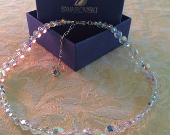 Authentic Swarovski crystal aurora necklace