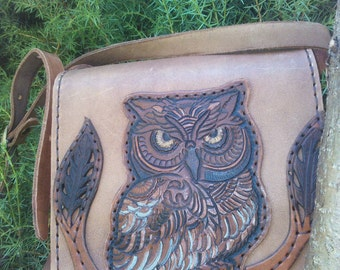 leather bag. OWL.