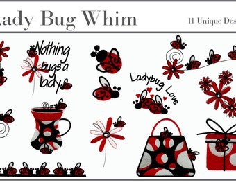 Lady Bug Machine 11 Embroidery Designs - Really Adorable
