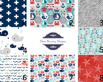 Nautical Under the Sea Modern Nursery Bedding Set