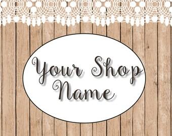 Shop Banner Set, Premade Banner Set, Wood Banner Set, Shop Banner, Banner Set, Etsy Shop Banner, Graphic Design, Shop Set, Custom Banner