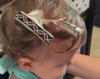 Pocahontis Inspired Hair Clip with Feather