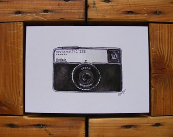 Kodak Instamatic 233 Illustration | A5 Print