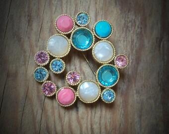 Vintage Multicolored Brooch