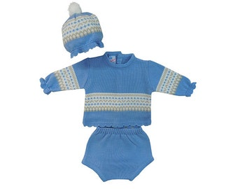 Knitted baby boy set