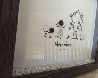 Button 'New home' frame
