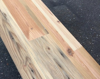 Reclaimed Wood Shelves - Custom Made- Patchwork Pattern - Reclaimed Southern Yellow Heart pine - DIY Shelves - Shelving Boards