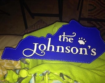 State of Kentucky Personalized Sign