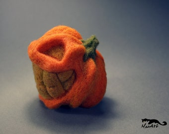 Howard, felted pumpkin for Halloween