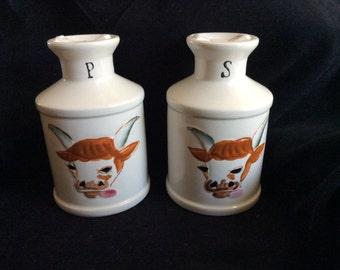 Vintage ENESCO Milk pail salt pepper set