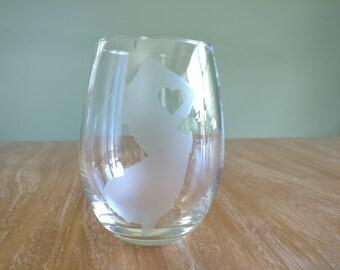 New Jersey Wine Glass, Girls Weekend Gift, Girls Weekend Wine Glass, Bridesmaid Gift