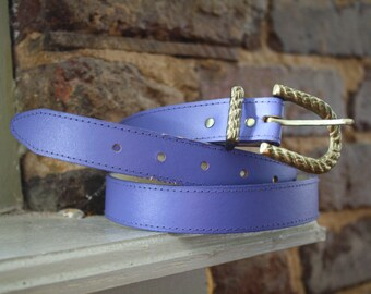 Lilac Skinny Belt