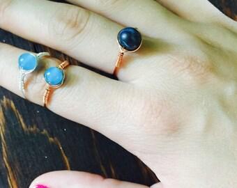 Gemstone Bead Ring