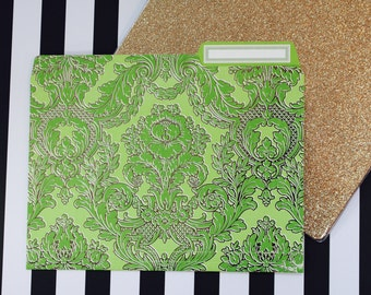 Anna Griffin Green Collection - 12 Fancy File Folders