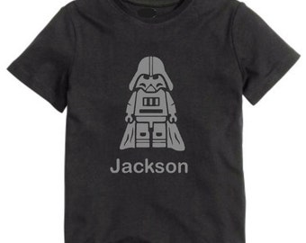 Star Wars Lego custom shirt with Darth Vader