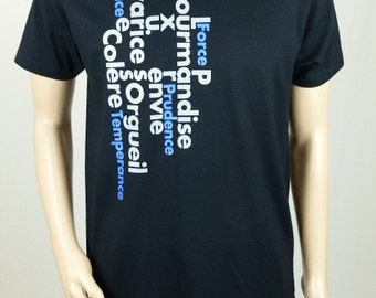 "T-shirt black man ""Capital sins"""